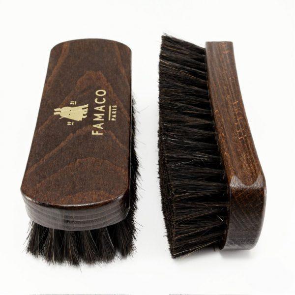 Щетка для обуви Famaco BROSSE A RELUIRE 13.5, свиной ворс, темный
