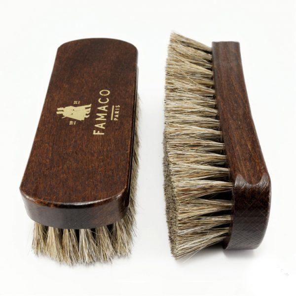 Щетка для обуви Famaco BROSSE A RELUIRE SIMPLE POILS BLANC 13.5, светлый свиной ворс