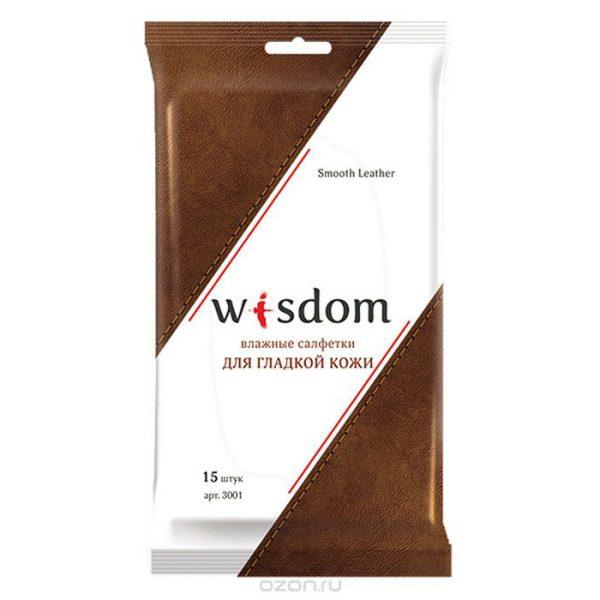 Салфетки влажные WISDOM для гладкой кожи, 15 штук