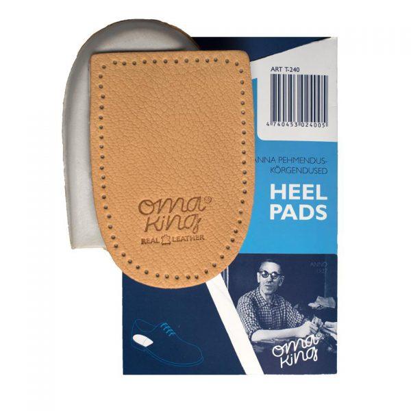 Подпяточник HEEL PADS, OmaKing, кожа на пенке, универсальный размер
