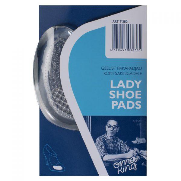 Гелевый тормоз для стоп LADY SHOE PADS, OmaKing, универсальный размер