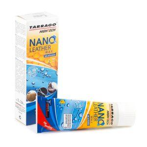 Крем тюбик с губкой NANO Leather WAX, 75мл.