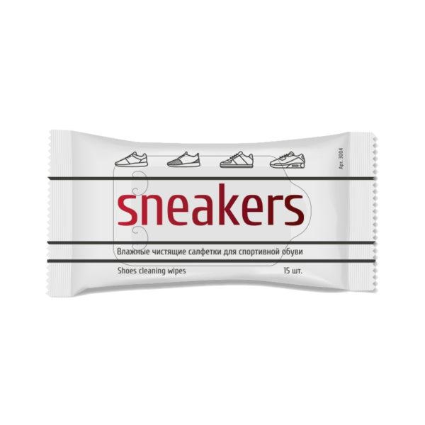 Чистящие салфетки для спортивной обуви WISDOM SNEAKERS LINE, 15 штук