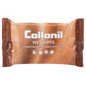 Салфетки для ухода за нубуком и замшей Collonil Wet Wipes, 15 шт.