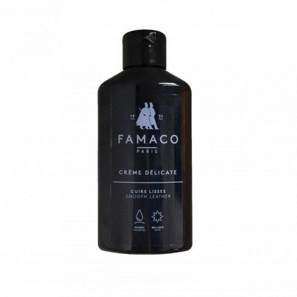 Деликатный крем для обуви, FAMACO, черный, 125 мл