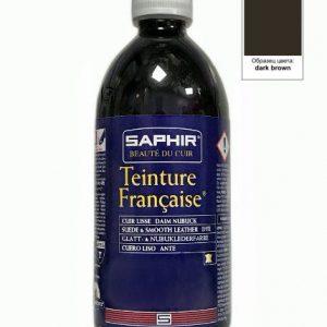 Проникающий краситель Saphir Teinture Francaise, 500мл (темно-коричневый)