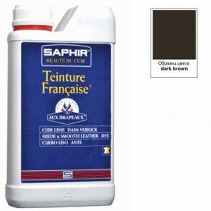 Проникающий краситель Saphir Teinture Francaise, 1000мл (темно-коричневый)