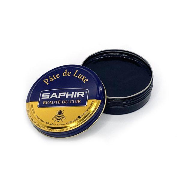Гуталин воск для обуви Saphir BDC Pate de Luxe, 50мл. (черный)