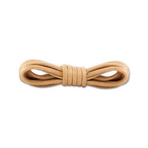 Круглые вощеные шнурки 90см- Бежевые
