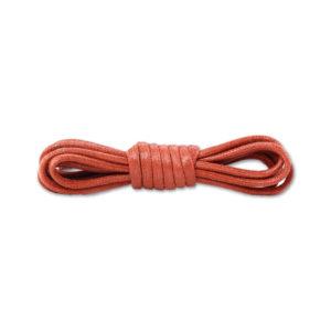 Круглые вощеные шнурки 90см- Кирпичные