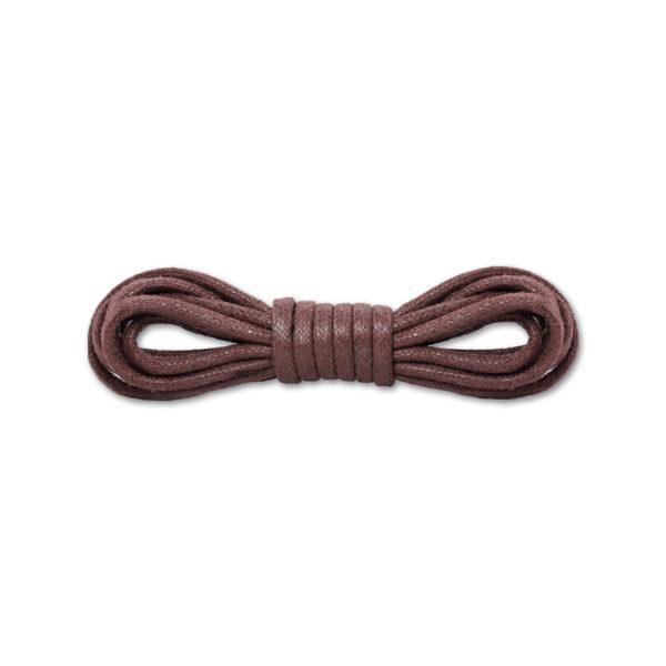 Круглые вощеные шнурки 120см  – темно-коричневые