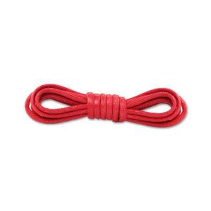 Круглые вощеные шнурки 90см- Красные
