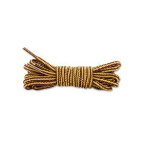 Круглые двухцветные шнурки 120см – Коричнево-желтые