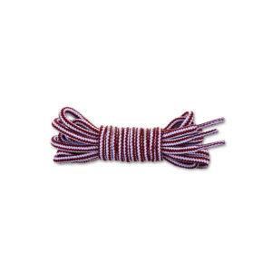 Круглые двухцветные шнурки 120см – Красно-белые