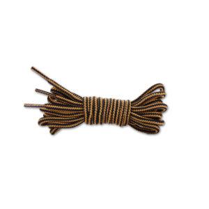 Круглые двухцветные шнурки 120см – Темно-коричневые