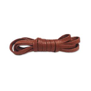 Плоские вощеные шнурки 90см – Коричневые