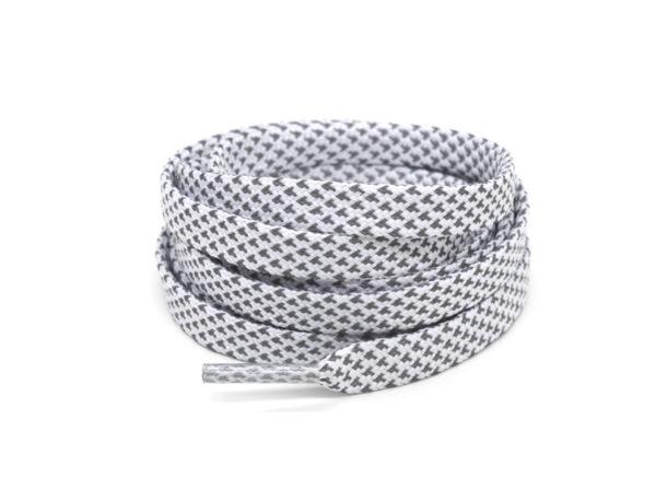 Светоотражающие шнурки плоские 120см – Белые