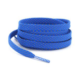 Светоотражающие шнурки плоские 120см – Голубые