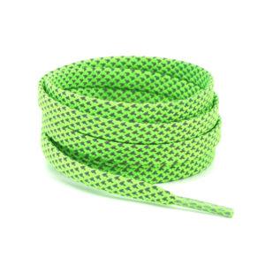 Светоотражающие шнурки плоские 120см – Кислотно зеленые