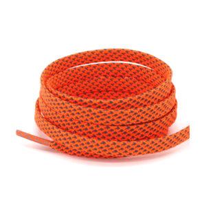 Светоотражающие шнурки плоские 120см – Кислотно оранжевые
