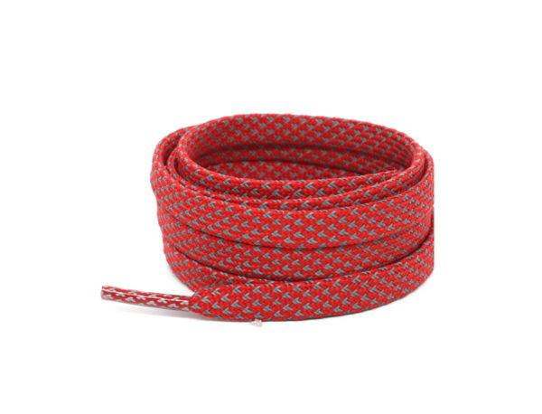 Светоотражающие шнурки плоские 120см – Красные