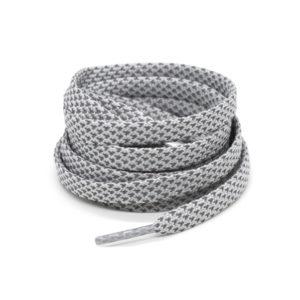 Светоотражающие шнурки плоские 120см – Светло серые