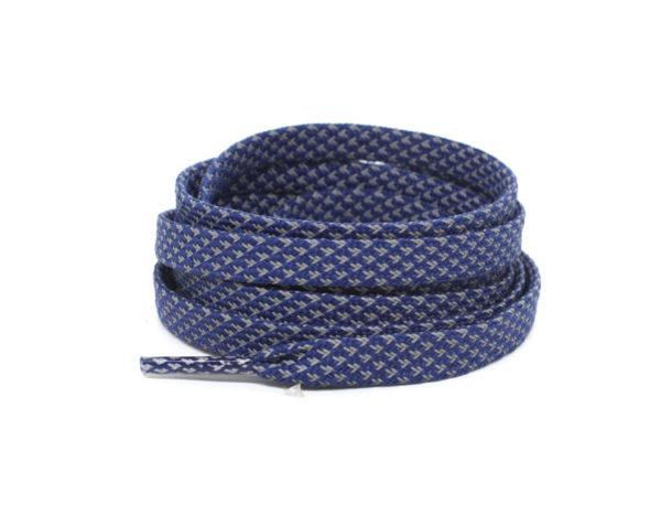 Светоотражающие шнурки плоские 120см – Синие