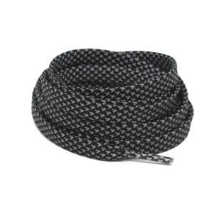 Светоотражающие шнурки плоские 120см – Черные