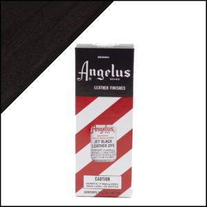 Черная краска для кожаных кроссовок Angelus Leather Dye 3 oz – Jet Black 002