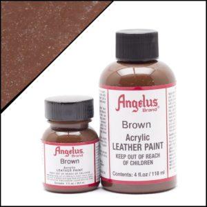 Коричневая краска для кроссовок Angelus 1 oz, укрывная – Brown 014