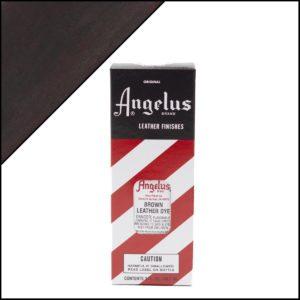 Коричневая краска для кожаных кроссовок Angelus Leather Dye 3 oz – Brown 014