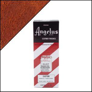 Рыжая (кирпичная) краска для замши и нубука с оттенком ржавчины Angelus Suede Dye 3 oz – Rust 026