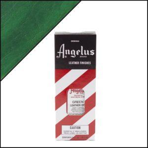 Зеленая краска для кожаных кроссовок Angelus Leather Dye 3 oz – Green 050