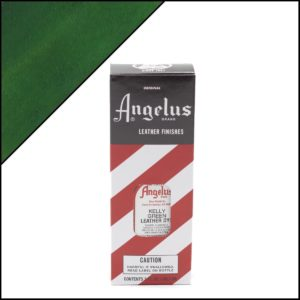 Зеленая краска для кожаных кроссовок Angelus Leather Dye 3 oz – Kelly Green 051
