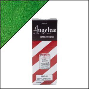 Зеленая краска для замши и нубука Angelus Suede Dye 3 oz – Kelly Green 051