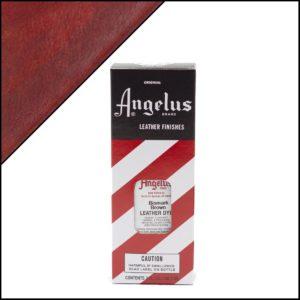 Коричневая краска для кожаных кроссовок Angelus Leather Dye 3 oz – Bismark Brown 091