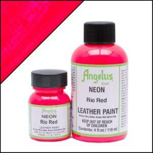 Кислотно-красная краска для кроссовок Angelus Neon 1 oz – Rio Red 120