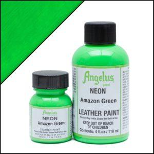 Кислотно-зеленая краска для кроссовок Angelus Neon 1 oz – Amazon Green 125