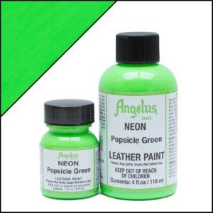 Кислотно-зеленая краска для кроссовок Angelus Neon 1 oz – Popsicle Green 126