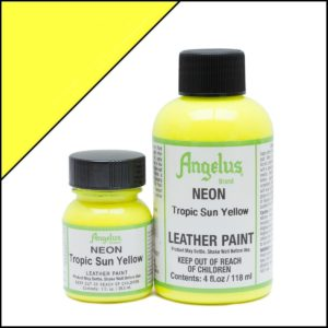 Кислотно-желтая краска для кроссовок Angelus Neon 1 oz – Tropic Sun Yellow 127