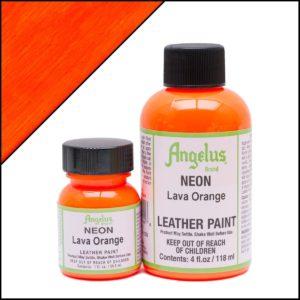 Кислотно-оранжевая краска для кроссовок Angelus Neon 1 oz – Lava Orange 130