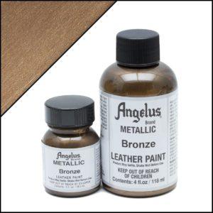 Бронзовая краска для кроссовок Angelus Metallic 4 oz – Bronze 142