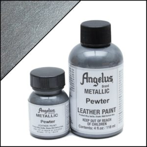 Серебряная краска для кроссовок Angelus Metallic 1 oz – Pewter 143