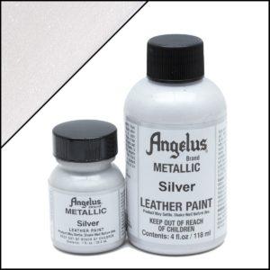 Серебряная краска для кроссовок Angelus Metallic 4 oz – Silver 150