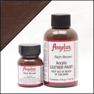 Коричневая краска для кроссовок Angelus 1 oz, укрывная – Rich Brown 181