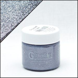 Сине-серая краска для кроссовок с блёстками Angelus Glitter – Gun Metal 224