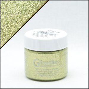 Зеленая краска для кроссовок с блёстками Angelus Glitter – Limelite 225
