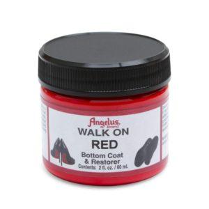 Красная краска для подошвы Angelus Walk on 2 oz, укрывная RED (49 мл)
