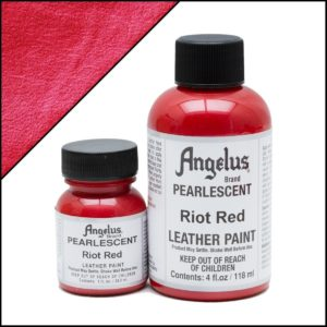 Красная краска для кроссовок Angelus Pearlescent 1 oz (29 мл) – Riot Red 451