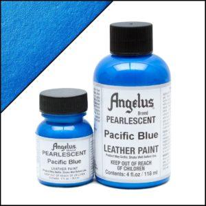 Синяя краска для кроссовок Angelus Pearlescent 1 oz (29 мл) – Pacific Blue 452